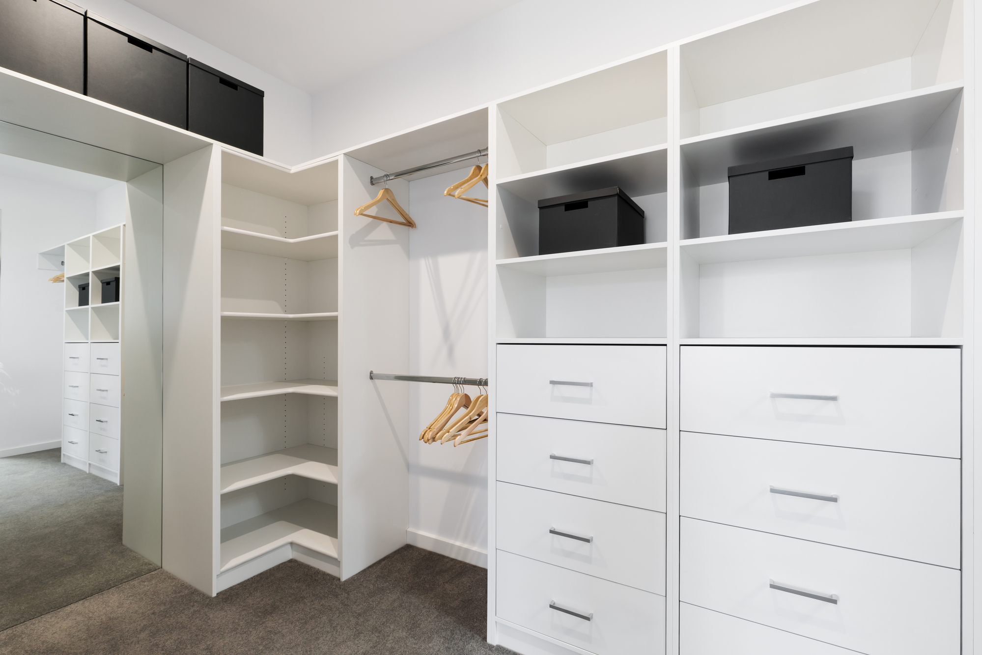 large walk in wardrobe custom closet