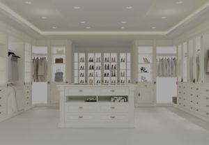 large white custom closet systems